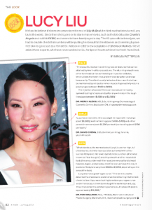 Celebrity Beauty - Lucy Liu