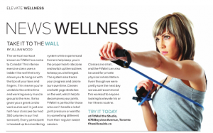 Fitness Writing in Elevate magazine